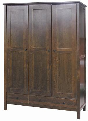 Dark Brown Alderwood Large Wardrobe